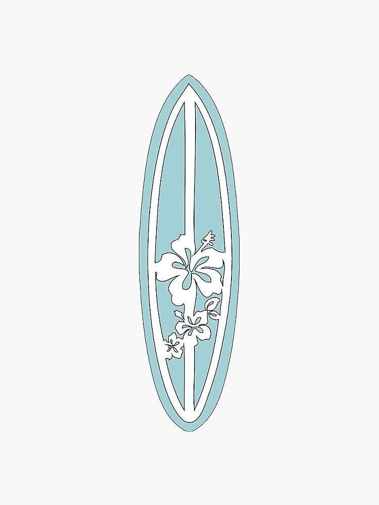 Light Blue Surfboard by nahedanassan
