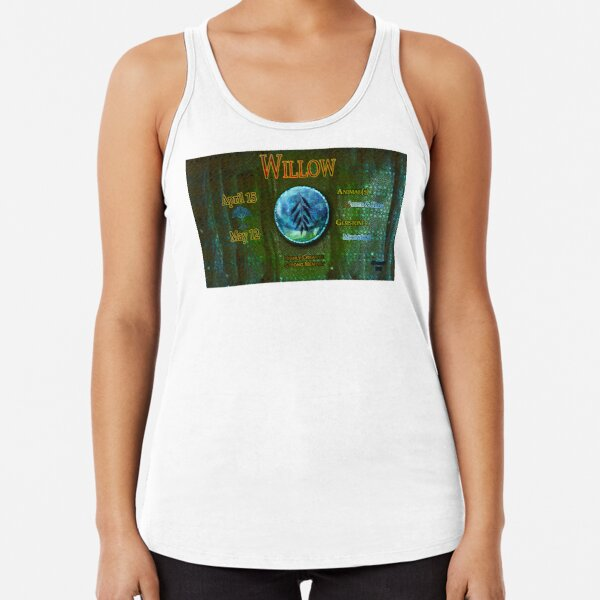 Zo-Disc Willow with background v1 Racerback Tank Top