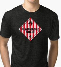 Flammable Solid Black Tri-blend T-Shirt