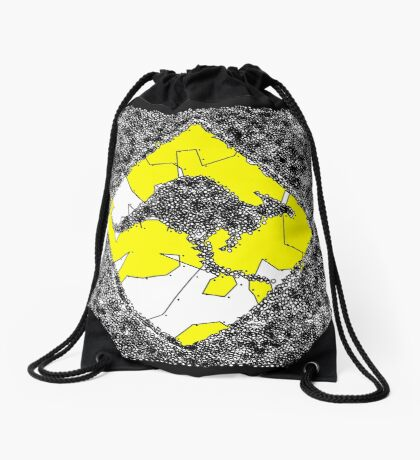 Warning Sign Kangaroo Drawstring Bag
