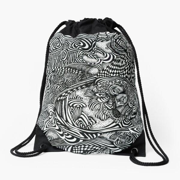 Liquid Skull Drawstring Bag