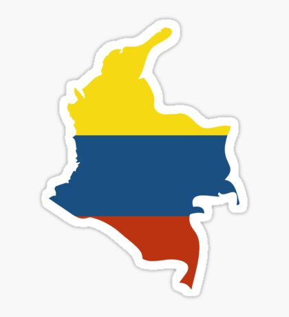 Colombia map with flag colors Sticker