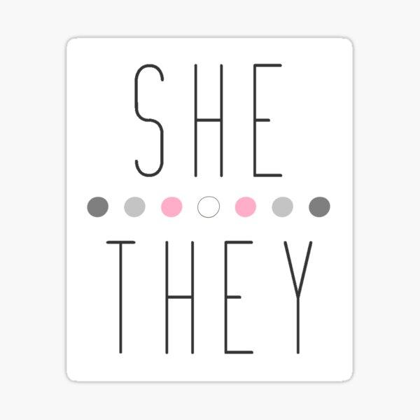 Demigirl She/They Sticker
