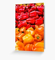 Bell Peppers anyone? Greeting Card