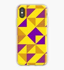 Intersex Pride Geometric Triangle Pattern 1 iPhone Case