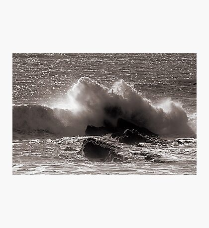 Wave and Rocks Photographic Print