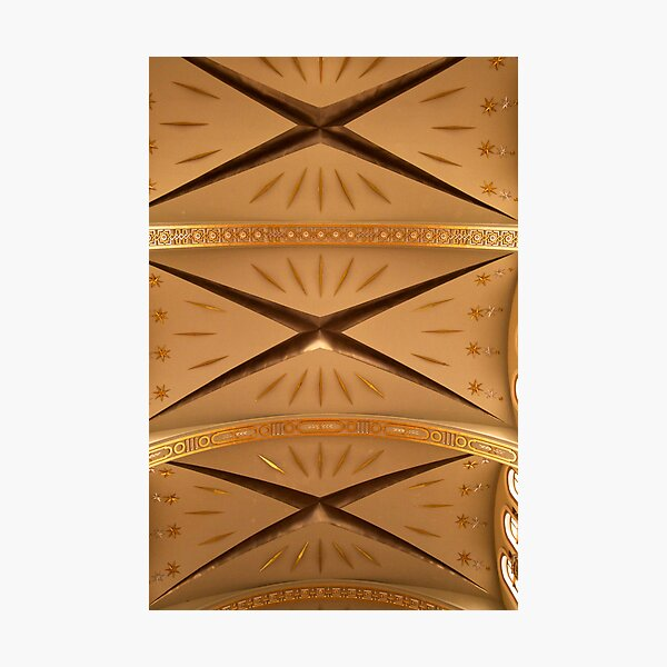 Gold Church Ceiling Photographic Print