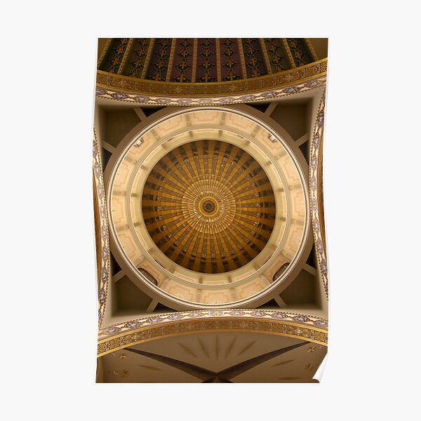Church rotunda from inside looking up Poster