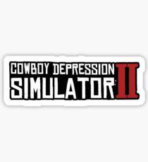 RDR2 Cowboy Depression Sticker