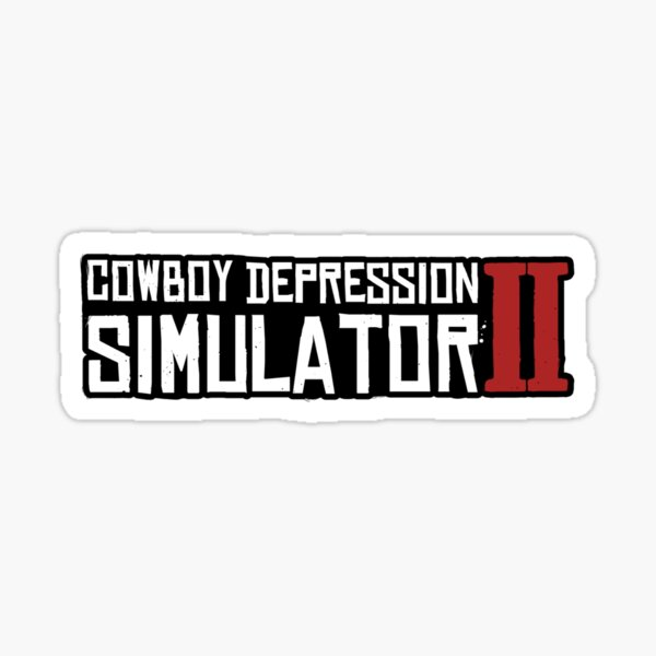 RDR2 Cowboy Depression Sticker