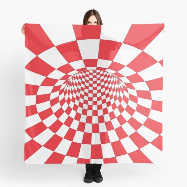 Chess, #Checkered, #Spinning, and #Curving #Tunnel Painted in Manner of Chessboard Scarf