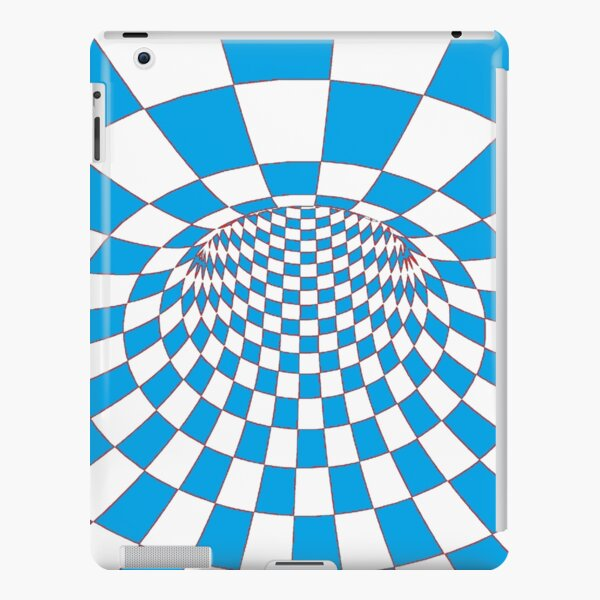 #Checkered, #Spinning, and #Curving #Tunnel Painted in Manner of Chessboard iPad Snap Case
