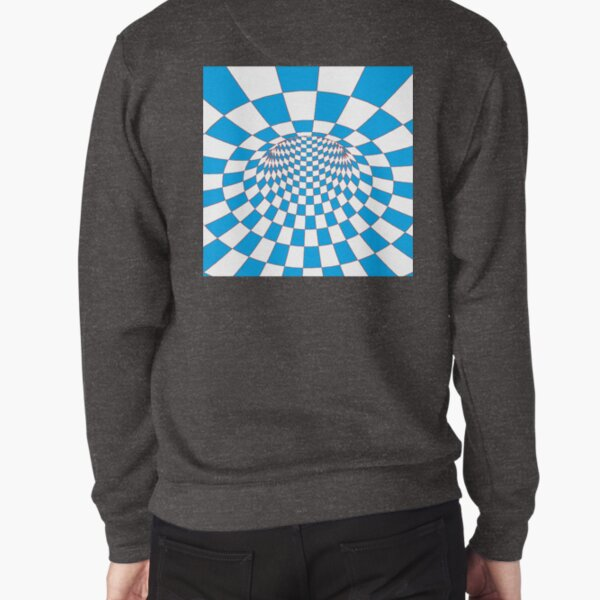 #Checkered, #Spinning, and #Curving #Tunnel Painted in Manner of Chessboard Pullover Sweatshirt