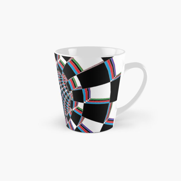 Chess, #Checkered, #Spinning, and #Curving #Tunnel Painted in Manner of Chessboard Tall Mug