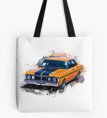 Orange 1971 Ford Falcon XY GT Tote Bag