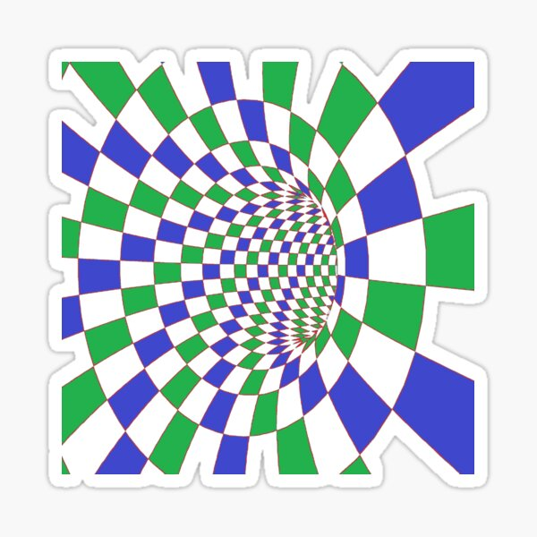 #Checkered, #Spinning, and #Curving #Tunnel Painted in Manner of Chessboard Sticker