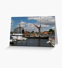 The Victor Sets Sail, Ipswich Waterfront Greeting Card