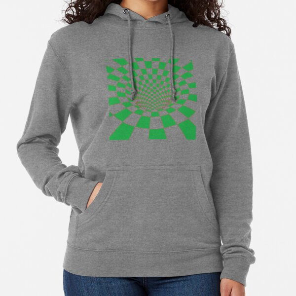 #Checkered, #Spinning, and #Curving #Tunnel Painted in Manner of Chessboard Lightweight Hoodie