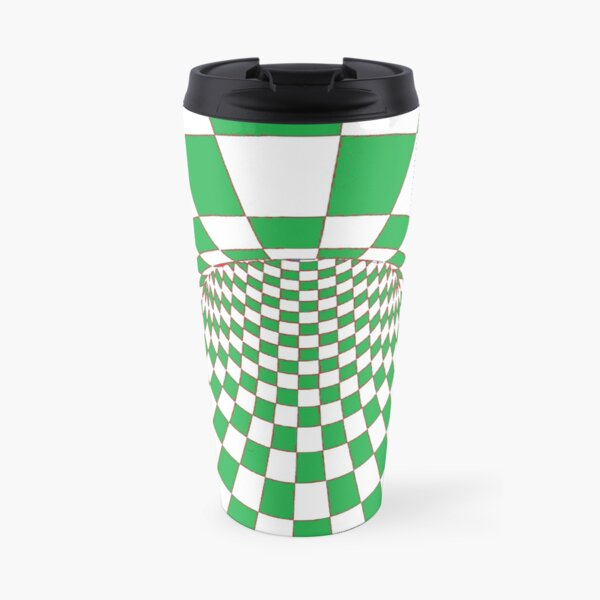 #Checkered, #Spinning, and #Curving #Tunnel Painted in Manner of Chessboard Travel Mug