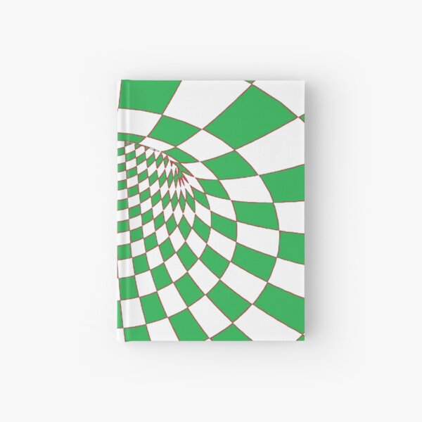 Chess, #Checkered, #Spinning, and #Curving #Tunnel Painted in Manner of Chessboard Hardcover Journal