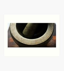 Mortar & Pestle... Art Print