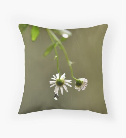 I'll do my crying in the rain ~ Throw Pillow