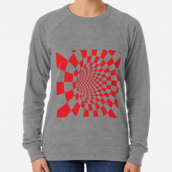 #Checkered, #Spinning, and #Curving #Tunnel Painted in Manner of Chessboard Lightweight Sweatshirt