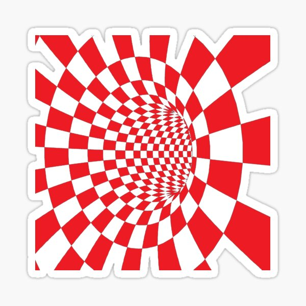 Chess, #Checkered, #Spinning, and #Curving #Tunnel Painted in Manner of Chessboard Sticker