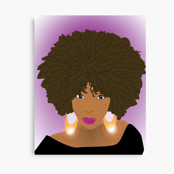 Afro Chic Canvas Print