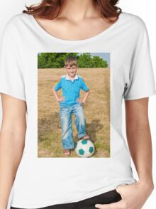At the beginning of the soccer game Women's Relaxed Fit T-Shirt
