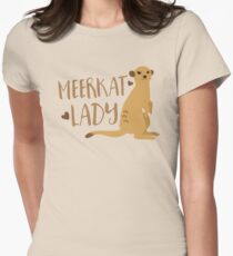 Meerkat Lady Women's Fitted T-Shirt