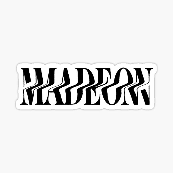 Madeon New Logo - Black Sticker