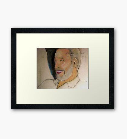WIP - My Dad's portrait..!! Framed Print