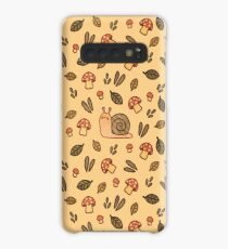 Snail, Mushrooms and Leaves  Case/Skin for Samsung Galaxy