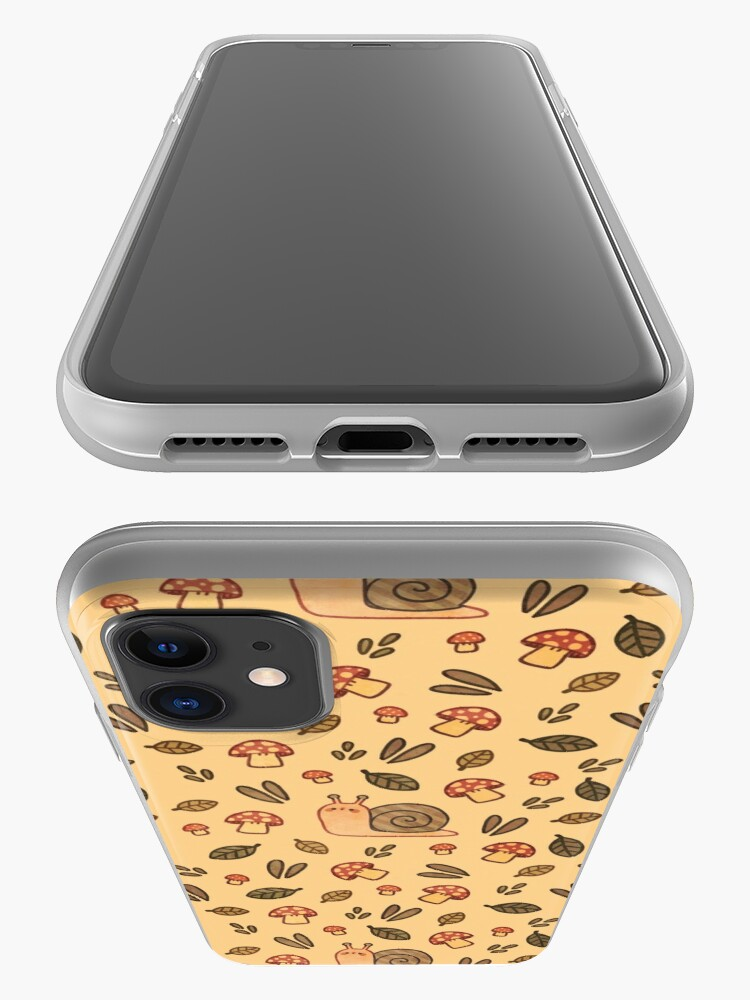 Alternate view of Snail, Mushrooms and Leaves  iPhone Case & Cover