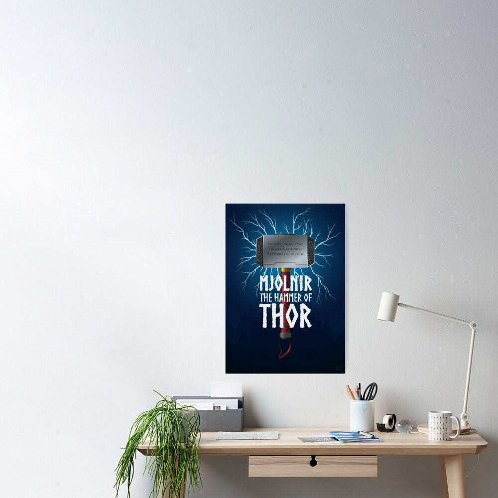 Mjolnir the hammer of Thor Poster