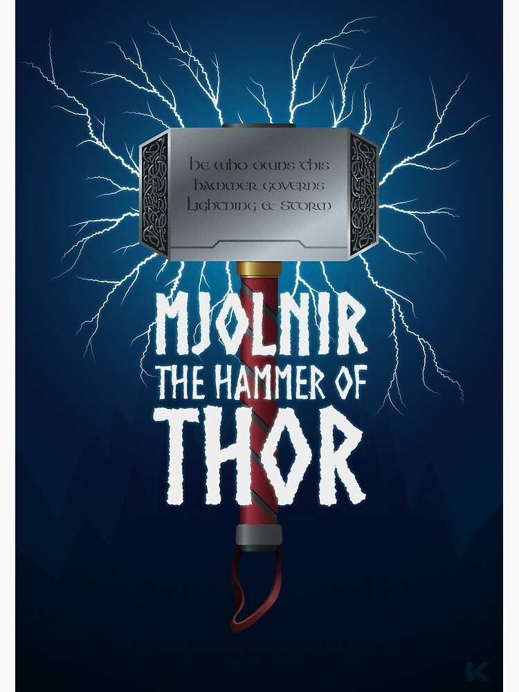 Mjolnir the hammer of Thor by Kniffen