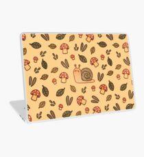 Snail, Mushrooms and Leaves  Laptop Skin