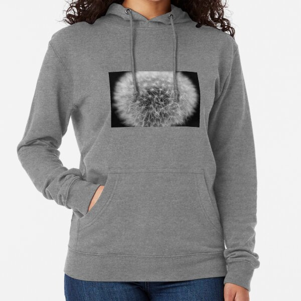 #Dandelion, #Flower, #Plant, #Photography, abstract, nature, seed, growth, monochrome Lightweight Hoodie