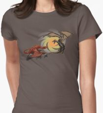 Alduin vs. smaug Womens Fitted T-Shirt