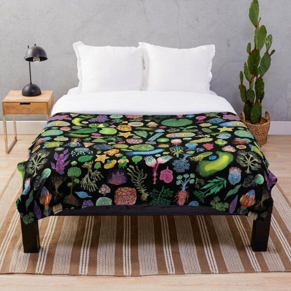 Ocean Slugs & Tasty Cacti Throw Blanket