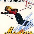 teleferique du mont. d'arbois - megeve - Frankreich - Vintage SportPoster von vintagetravel