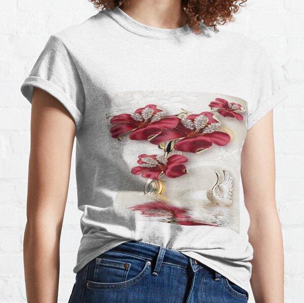 Artificial flower, #Magenta, #petal, #flower, #plant, decoration, luxury, bright, christmas, winter, romance Classic T-Shirt