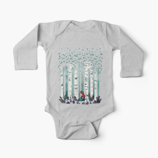 The Birches Long Sleeve Baby One-Piece