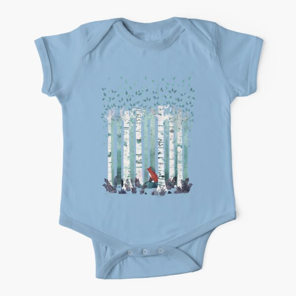 The Birches Short Sleeve Baby One-Piece