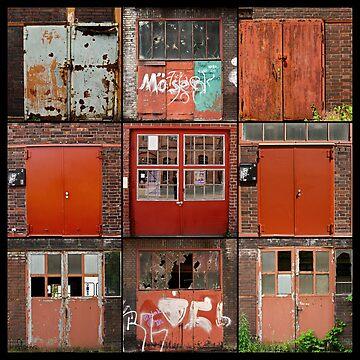 Doors of Zeche Zoolverein by kraftseins