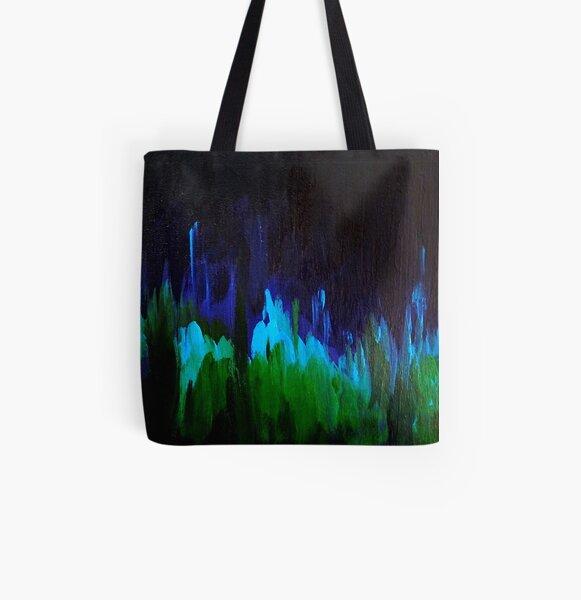 Algae Glow All Over Print Tote Bag