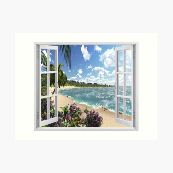 #Summer, #tropical, #beach, #water, sand, sea, island, travel, idyllic, sky, nature Art Print