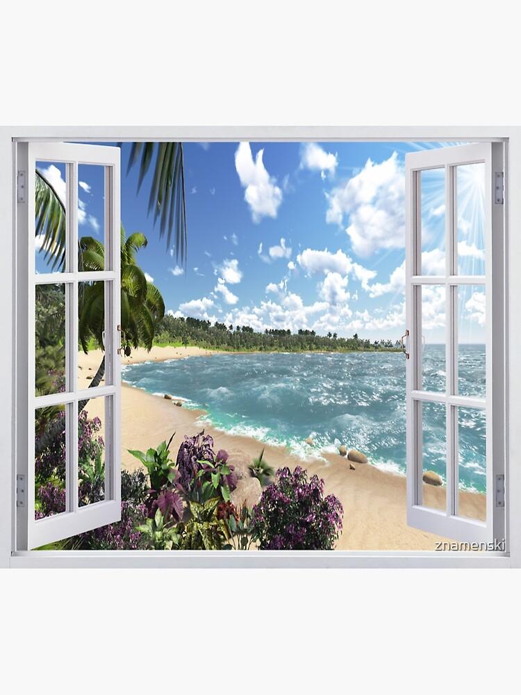 #Summer, #tropical, #beach, #water, sand, sea, island, travel, idyllic, sky, nature by znamenski