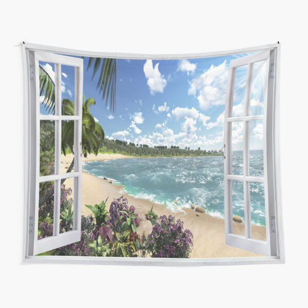 #Summer, #tropical, #beach, #water, sand, sea, island, travel, idyllic, sky, nature Tapestry